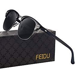 Polarized Mens Sunglasses for Men – FEIDU Polarized Sunglasses Mens Sunglasses FD 3030 (ALL/BLACK, 2.08)