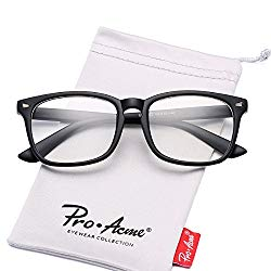 Pro Acme Non-prescription Glasses Frame Clear Lens Eyeglasses (Matte Black)