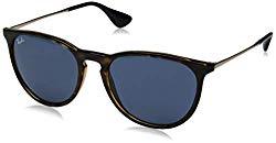 Ray-Ban Erika Aviator Sunglasses, Havana, 59.0 mm