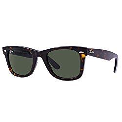 Ray-Ban RB2140- Tortoise Frame/Crystal Green Lens, 50 MM Non-Polarized Sunglasses