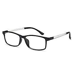 VVDQELLA Bluelight Blocker Reading Glasses TR90 1.00 for Women & Men UV Protection Anti Glare Computer Readers Eyeglasses Antireflective