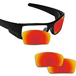 Fiskr Anti-saltwater Polarized Replacement Lenses for Oakley Gascan Sunglasses – Various Colors (Fire Red – Anti4s Polarized, 0)