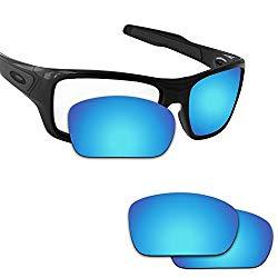 Fiskr Anti-saltwater Polarized Replacement Lenses for Oakley Turbine Sunglasses (Ice Blue – Anti4s Mirror Polarized, 0)