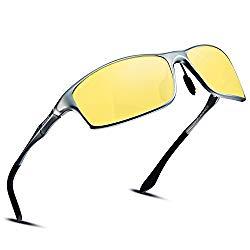 SOXICK Night Driving HD Glasses for Men Women Anti Glare Rainy Safe HD Night Vision HOT Fashion Polarized Sunglasses