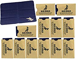 Blue Merlin Microfiber Cleaning Cloth | Eyeglass Lens Cleaner | Glasses, Phone, Camera, Computer Screen Cleaning | Safe for All Coated Lenses | 12 Pack, 6×7 Inch, Blue