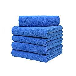 CARCAREZ Premium Microfiber Detailing Towels, 380 GSM Lint Free Car Buffing Waxing Polishing Drying Towel, 16×16 inch, Pack of 5