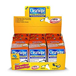 Clearwipe Microfiber Lens Cleaner Quick Drying Pre-Moistened Wipes – 6 Boxes (20 Pre-Moistened Soft Wipes)