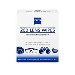 ZEISS Lens Wipes – 200 Pre-Moistened Eyeglass Cleaning Wipes