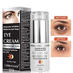 Eye Cream,Eye Gel,Anti-Aging Eye Cream,Anti Wrinkle Eye Serum,Anti Aging Skin Nourishes Skin & Fights Wrinkles Night and Day Moisturizing Cream,Reduces Puffiness & Dark Circles