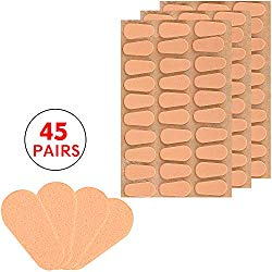 Gejoy 45 Pairs Soft Foam Nose Pads Self Adhesive Eyeglass Nose Pads Anti-Slip Eyeglass Nose Pads Thin Nosepads for Glasses Eyeglasses Sunglasses (Skin Color)