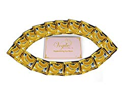 24k Gold Eye Mask – with Collagen by Vogue Effects (15 Pairs), Under Eye Mask Treatment for Puffy Eyes, Dark Circles Corrector, Used for Eye Bags, Anti Aging Patches Luxury Gift for Women and Men