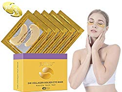 JUYOU 24K Gold Under Eye Patch, Eye Mask, Collagen Eye Patch, Eye Pads For Anti-wrinkles, Puffy Eyes, Dark Circles, Fine Lines Treatment 30 Pairs