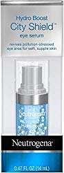Neutrogena Hydro Boost City Shield Hydrating Eye Serum with Hyaluronic Acid, Antioxidants, and Multivitamin Capsules for Pollution Stressed Skin, Oil-Free and Non-Comedogenic.47 fl. oz