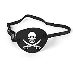 Pirate Eye Patch Skull Crossbone Eye Patch Eye Mask for Halloween Decor