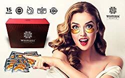 Wisteria Beaute Luxury Gold Eye Masks (Pack of 15)