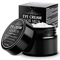 Eye Cream for Men-Kinbeau Eye Cream for Men,Anti-Aging Eye Cream,Total Eye Balm To Reduce Puffiness, Wrinkles, Dark Circles and Under Eye Bags (Black)