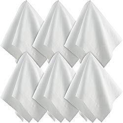 Large Microfiber Cleaning Cloths (15×15 Inch, 6 Pack) for Big TV Screens, Eyeglasses, Camera Lens, Smartphones and Tablets