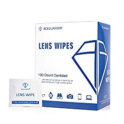 Lens Cleaning Wipes Pre-Moistened Portable Travel Cleaner for Eyeglasses, Computer or Phone Screens, Camera Lenses and Other Delicate Surfaces (100IndividualCount)