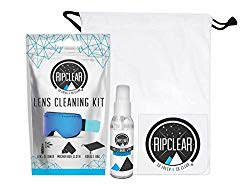 Ripclear Premium Eyeglass Cleaner Kit, Perfect For Prescription Glasses, Sunglasses, Goggles And More. Includes 100% Biodegradable Glass Cleaner, Thick Microfiber Cloth And A Drawstring Eyeglass Case