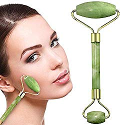 100% Natural Jade Face Roller/Anti Aging Jade Stone Massager for Face & Eye Massage – Make Your Face Skin Smoother and Looks Younger