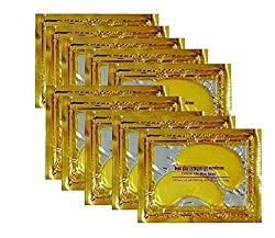 24K Gold Powder Gel Collagen Eye Masks Sheet Patch, Anti Aging,Remove Bags,Dark Circles &Puffiness,Anti Wrinkle,Moisturising,Hydrating,Uplifting Whitening,Remove Blemishes&Blackheads (10 Pair)