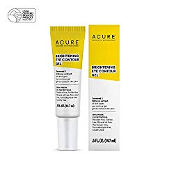 ACURE Brightening Eye Contour Gel  | 100% Vegan | For A Brighter Appearance | Seaweed & Hibiscus Extract – Rejuvenates, Hydrates & Soothes | All Skin Types | 0.5 Fl Oz