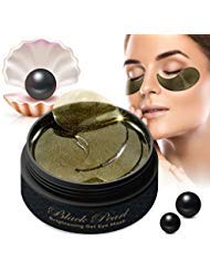 Black Pearl Collagen Eye Masks by Puriderma [60pc Set] Brightening Hydrogel Under-Eye Patches with Retinol to Rejuvenate Skin, Reduce Dark Circles, Fine Lines, Wrinkles