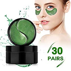 Collagen Under Eye Patches,60 PCS Under Eye Gel Pads Eye Mask Treatment with Anti-Aging Hyaluronic Acid For Moisturizing & Reducing Dark Circles Puffiness Wrinkles Fine Lines for Women and Men