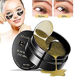 Eye Gel Pads, Under Eye Treatment Mask, Black Pearl Eye Gel, Collagen Eye Patchs for Eye Moisturizing, Reduce Dark Circles, Fine Lines, Puffiness Wrinkle – 60PCS