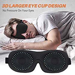 Eye Mask for Sleeping, Sytmhoe Sleep Mask for Men Women, Upgraded 3D Contoured Blindfold, Super Soft and Comfortable, Eye Shade Cover for Travel, Nap, Shift Work