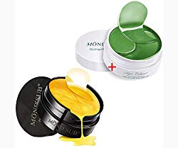 Eye Patches – Gold Eye Gel Patch (30 pairs) – Alga extract Eye Gel Patch (30 pairs) – Treatment Masks – Under Eye Patches, Dark Circles Under Eye Treatment, Under Eye Bags Treatment, Eye Mask 2 in1