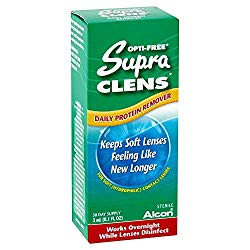 Opti-Free Supra Clens Daily Protein Remover, 0.1-Ounce Bottles