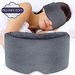 Sysrion Sleep Eye Mask – Ultra Soft Comfortable Sleeping Mask for for Home Sleep Travel Shift Work, Nose Pad Designed Light Blocking Eye Blinder, Fully Adjustable Strap and Skin Friendly