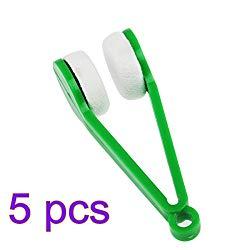 ULTNICE 5 Pcs Magic Mini Glasses Sunglasses Eyeglasses Microfiber Spectacles Cleaner Soft Brush Cleaning Tool (Random Color)