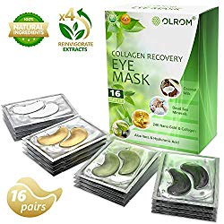Under Eye Mask Gold Eye Mask Anti-Aging Hyaluronic Acid Eye Patches Under Eye Mask for Moisturizing & Reducing Dark Circles Puffiness Wrinkles Eye Gel Pads (Variety)