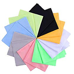 8 Pack Microfiber Cleaning Cloth Multicolor – 8 x 8 inch for Electronics – Cleans Lenses, Glasses, Screens, Cameras, Cell Phones,Silverware and Delicate Surfaces