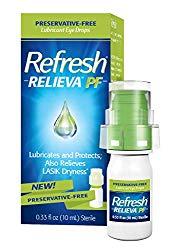 Refresh Relieva Preservative-Free Lubricant Eye Drops 0.33 Fl Oz (10ml) Sterile
