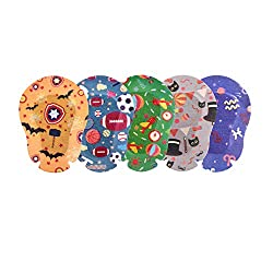 EGOOL Eye Patches for Boys, Treatment of Lazy Eye (Amblyopia), 5 Cute Colorful Patterns, 50 Pack Individually Wrapped, Regular Size for Boys