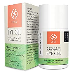 Eye Gel for Dark Circles, Puffiness, Wrinkles and Bags,Fine Lines. – The Most Effective Anti-Aging Eye Gel Under and around Eyes- 1 fl OZ