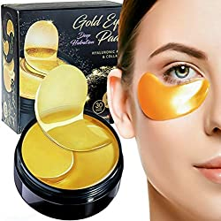 Luxury Collagen Gel Eye Pads Nano Active Gold Mask Patches [60 pack] Moisturizing Puffy Eyes Dark Circles Under Eyes Relief Anti-Aging Anti-Wrinkle Hyaluronic Acid Deep Hydration Face Skin Treatment