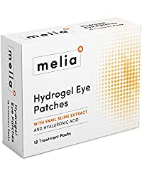 MELIA Under Eye Patches Eye Mask for Puffy Eyes, Dark Circles and Under Eye Bags Treatment With Hyaluronic Acid and Snail Slime Extract