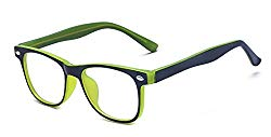 Outray Kids Computer Anti Blue Light Glasses for Boys and Gilrs Anti Eyestrain 2185c3 Green