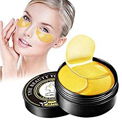 PHOEBE 24K Gold Under Eye Treatment Masks,Under Eye Patches Eye Gel Pads Reduces Wrinkles and Lightens Dark Circles Puffy Eyes and Eye Bags,Under Eye Face Mask Anti-Aging 30Pairs