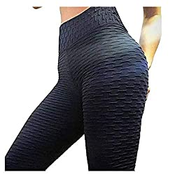 RINKOUa Butt Lifting Anti Cellulite Sexy Leggings for Women High Waisted Yoga Pants Workout Tummy Control Sport Tights