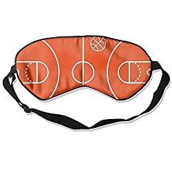 Sleep Mask Basketball Court Eye Cover Blackout Eye Masks,Soothing Puffy Eyes,Dark Circles,Stress,Breathable Blindfold
