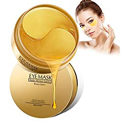 Under Eye Mask, 30 Pairs 24K Gold Eye Collagen Patches, Firming Eye Mask, Under Eye Bags Treatment for Moisturizing & Reducing Dark Circles Puffiness Wrinks