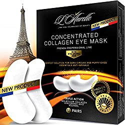 Under Eye Mask Charcoal Collagen Eye Mask Sports Under Eye Pads Anti-Aging Hyaluronic Acid Eye Patches Gel Eye Patch for Moisturizing & Reducing Dark Circles Puffiness Wrinkles
